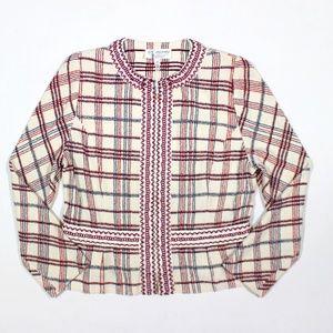 St John Collection Zip Knit Jacket Blazer Sweater